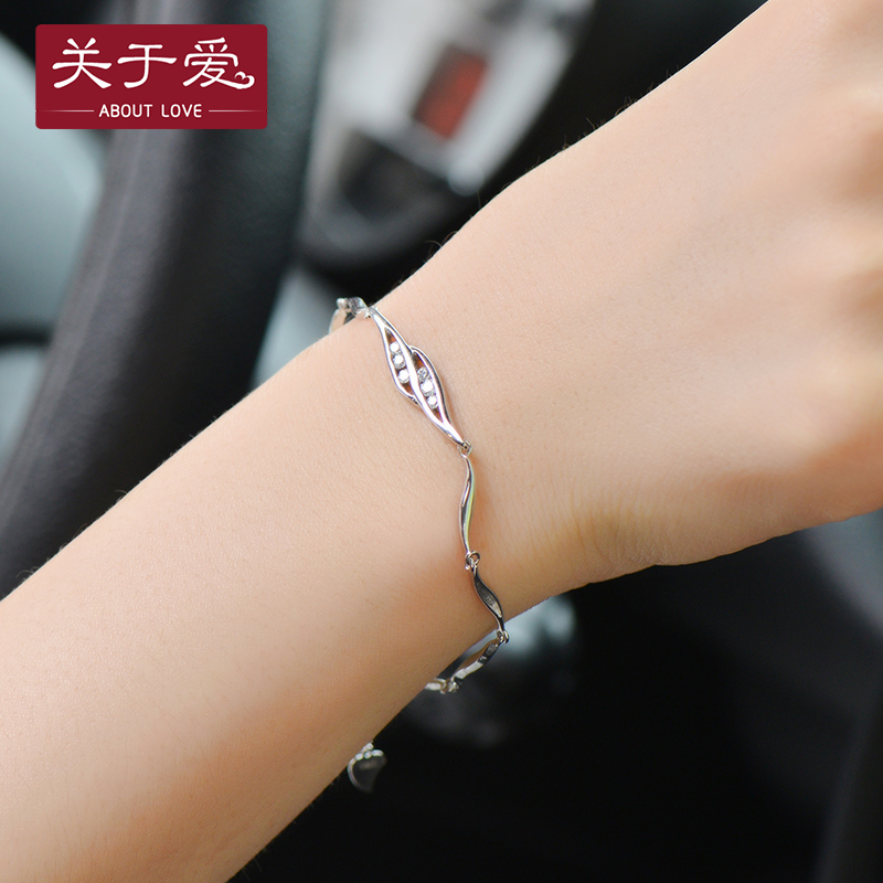 About love 925 silver bracelet female bracelet bracelet female korean fashion wave of people languishing bracelet sweet female students
