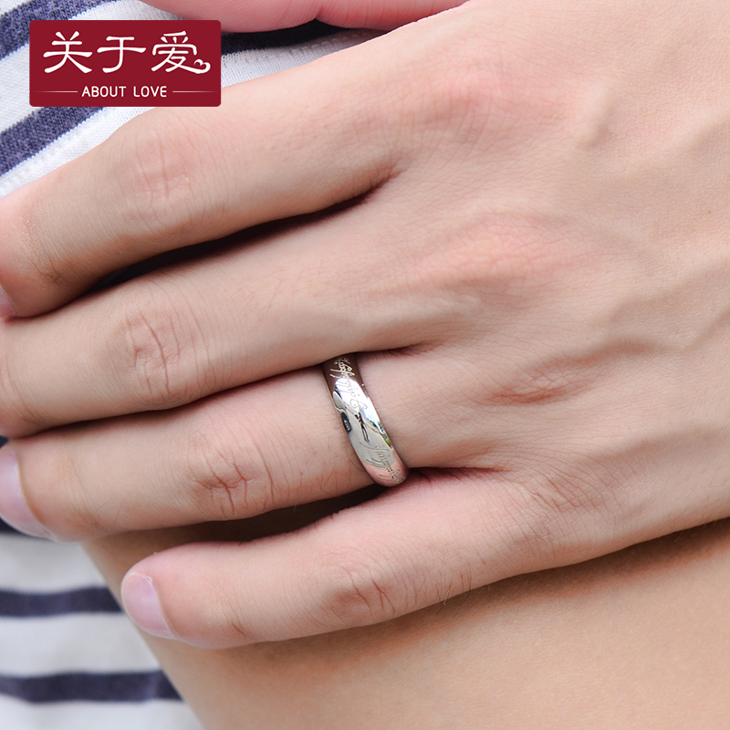 About love 925 silver ring silver ring female couple rings couple rings korean jewelry lover gift for men and women