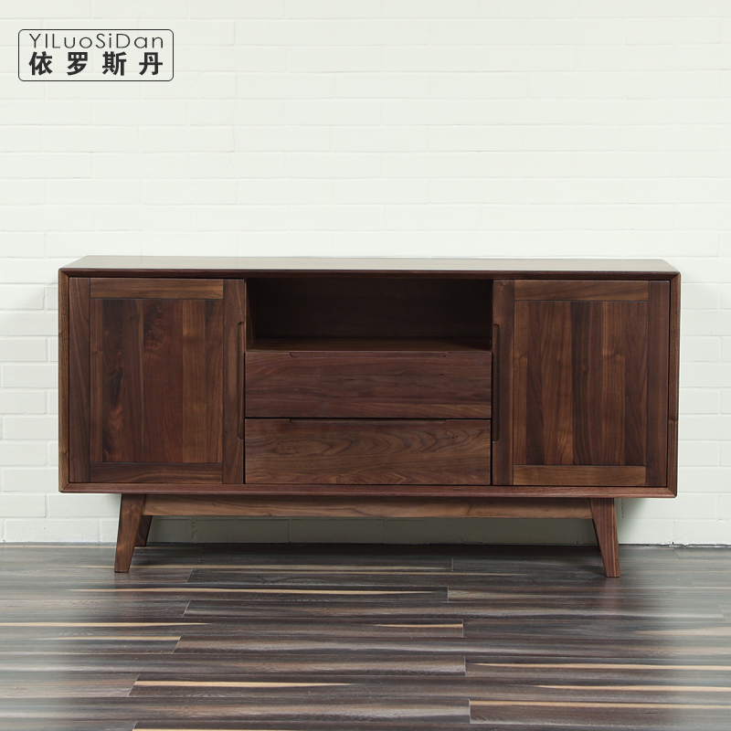According to luo sidan | north american black walnut wood sideboard | cabinets | lockers | scandinavian minimalist restaurant Furniture