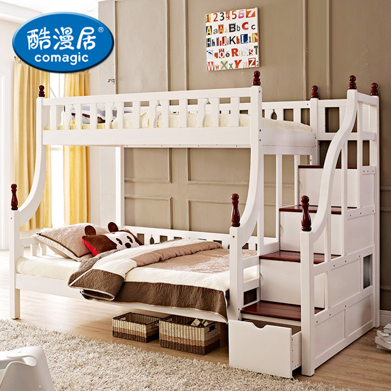 Acg children's furniture mediterranean bed wood bed bunk bed bunk bed bunk bed wood bed children