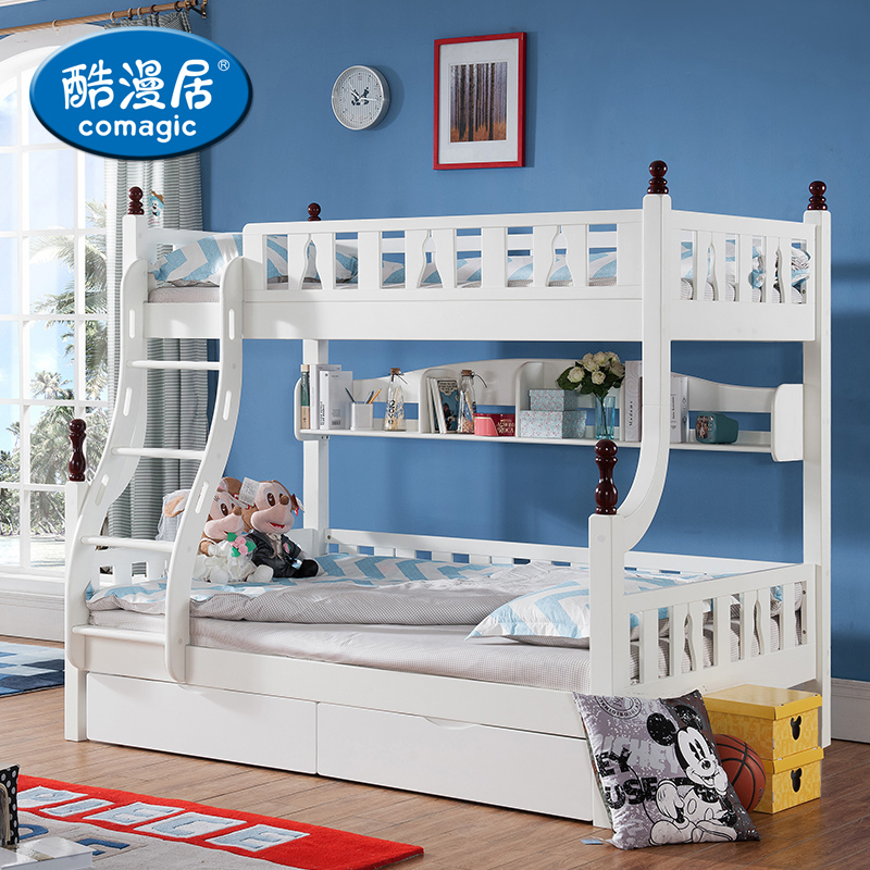Acg children's furniture mediterranean wood bunk bed bunk bed picture bed bunk bed children's bed white bed