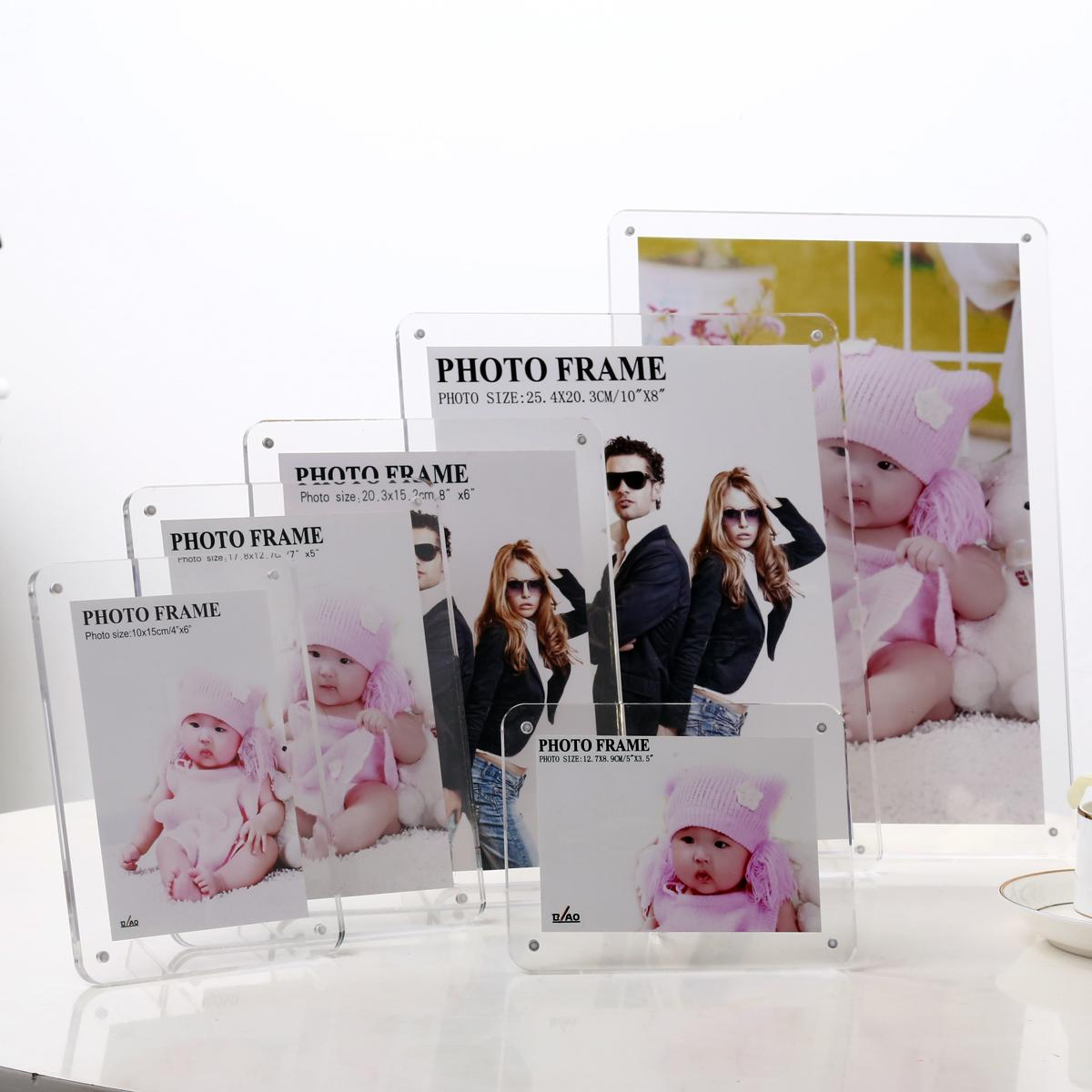 Acrylic photo frame swing sets creative wedding photo frame 5 inch 6 inch 7 inch 8 inch 10 inch 12 inch photo frame Tables placed customization