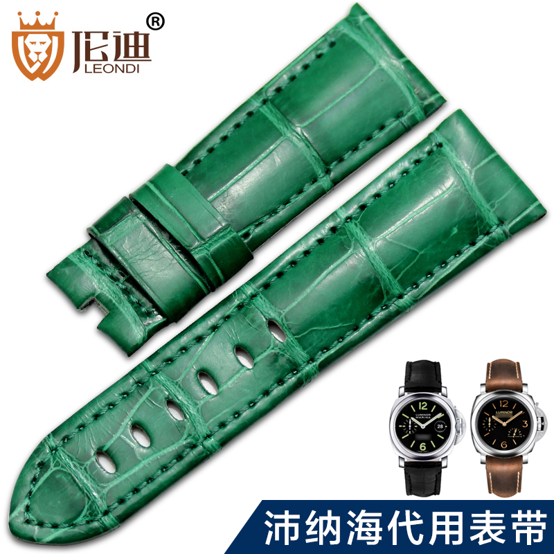 Adaptering panerai panerai pam111 panerai accessories alligator watch band strap leather men 441