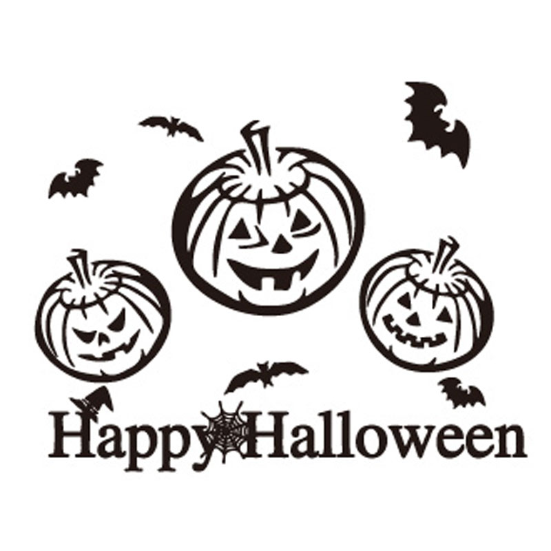 Adult personality 1 million halloween pumpkin halloween pumpkin stickers wall stickers children's halloween decorations props