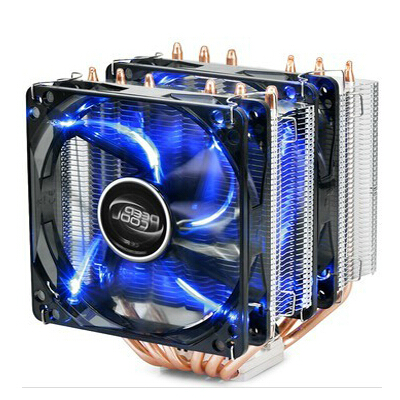 Aeolus big frost tower standard edition 6 cpu dual fan dual heat pipe cpu cooler quiet tower wind