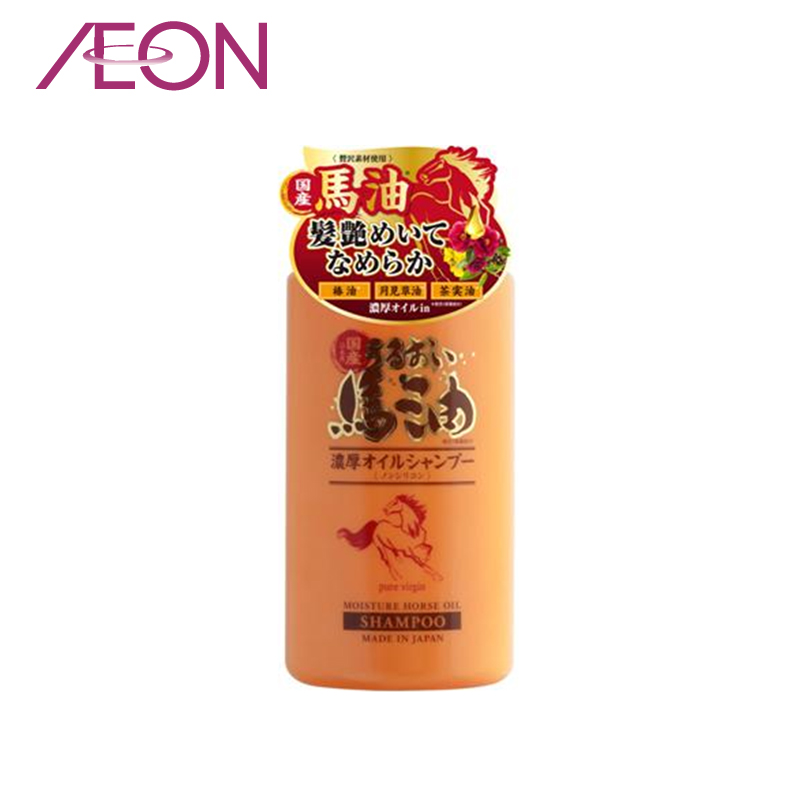 Aeon japan imported pure virgin no silicone formula of high purity horse oil shampoo wash hair gel 450 ml