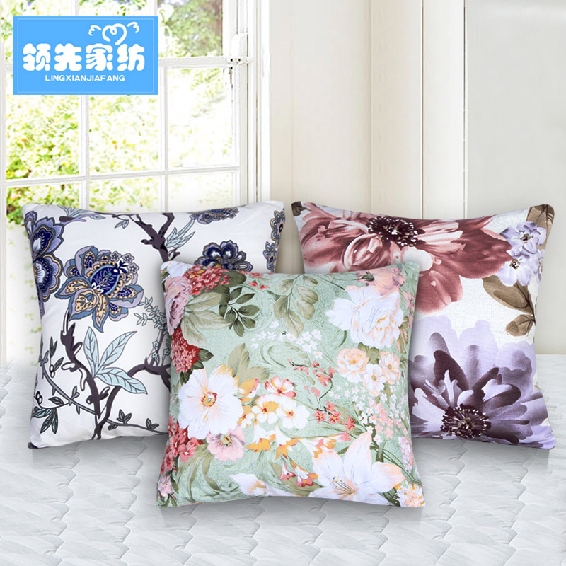 Ahead of the pillow simple pastoral style cotton pillow cushion sofa cushions office chair backrest containing core support made