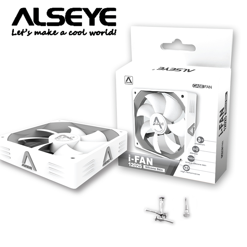 Ai ai aosi 12025I-Fan silicone mat white computer fan cpu fan chassis fan power supply fan