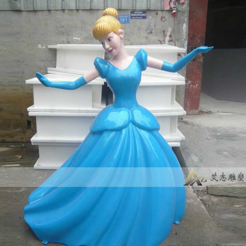 [Ai chi sculpture] professional production of glass and steel sculpture painted snow white glass sculpture AZ1147