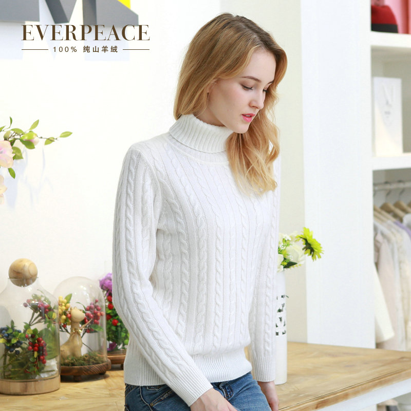 Ai gesi new female thick cashmere sweater pure cashmere knit sweater bottoming shirt round neck cashmere sweater pure cashmere