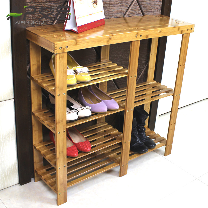 Ai product bamboo multilayer shoe rack simple dormitory creative shoe wood dust shoe fashion shoe special offer free shipping