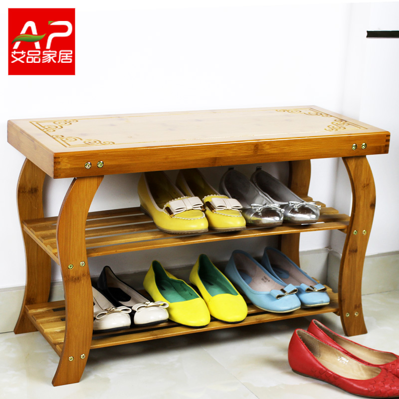 Ai product wood stool changing his shoes shoe shoes stool stool fashion creative bamboo garden storage stool ottoman stool specials