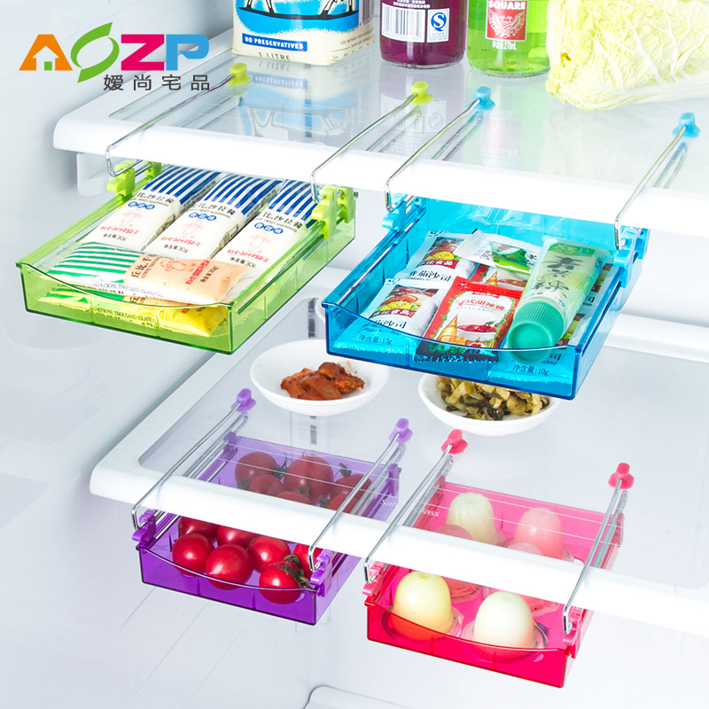 Ai shang house product crisper refrigerator storage rack clapboard shelf storage box on the use of space kitchen drawer glove box