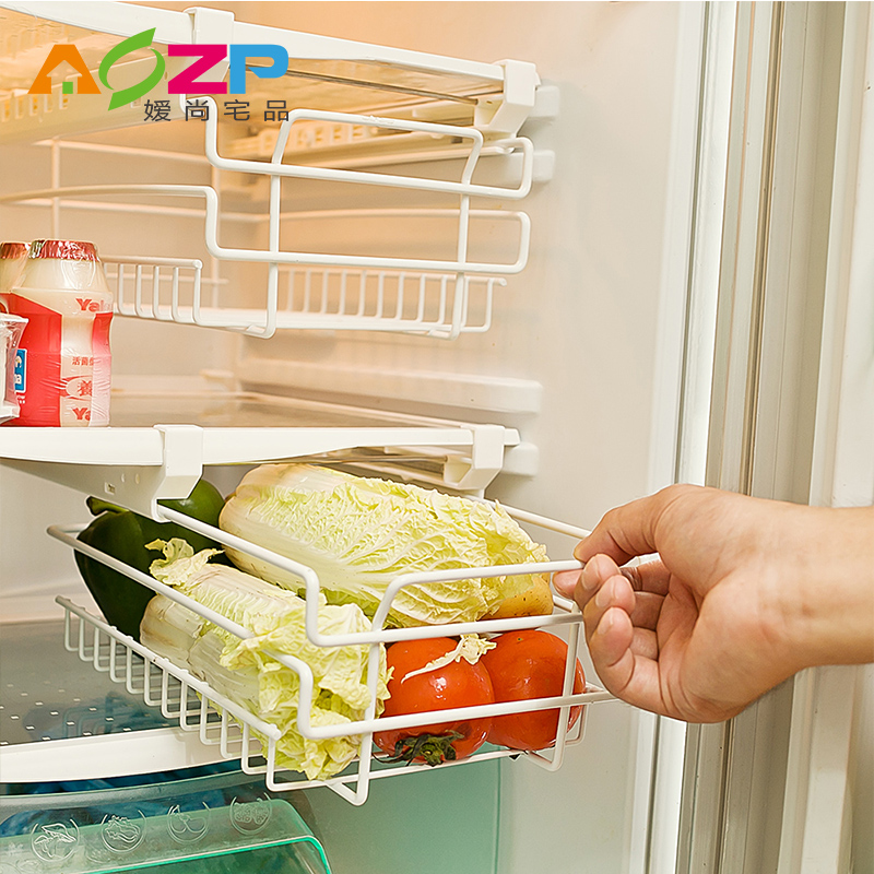 Ai shang house product summer in the refrigerator refrigerator storage rack shelving storage rack drawer inside telescopic pylons