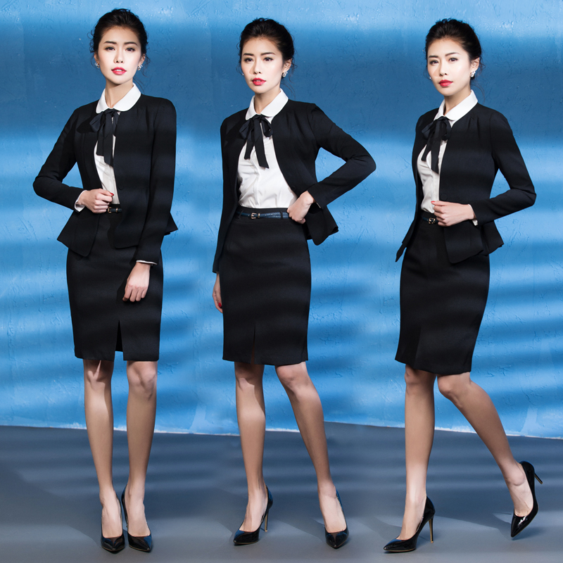 40a777e94c Get Quotations · Ai shangchen professional women s suits career skirt suits  overalls female ol interview dress skirt big yards
