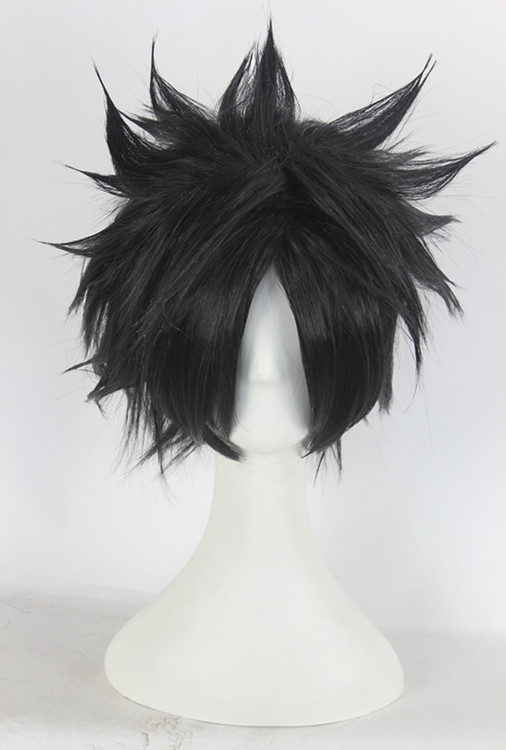 Ai sini real shot wig naruto sasuke uchiha black anti alice short hair wig cos