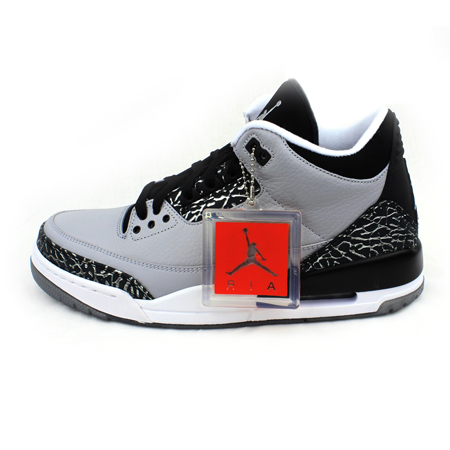 5f115bd25b10 Get Quotations · Air jordan 3 wolf grey aj3 gray wolf burst pattern  basketball shoes men 136064-004