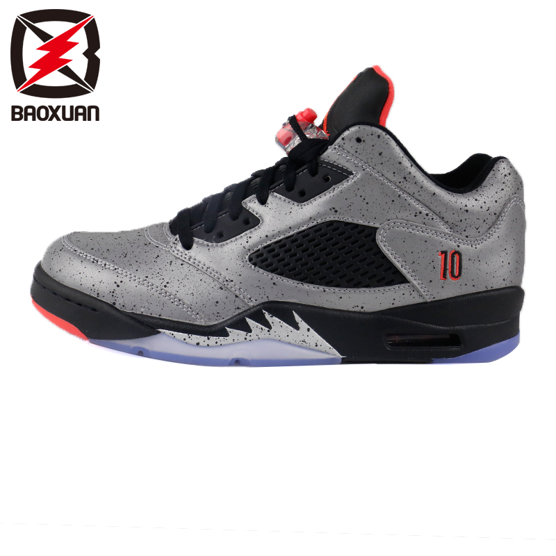 a2f415f372aecb Get Quotations · Air jordan 5 aj5 low neymar neymar joint m reflective  black and red basketball shoes 846315