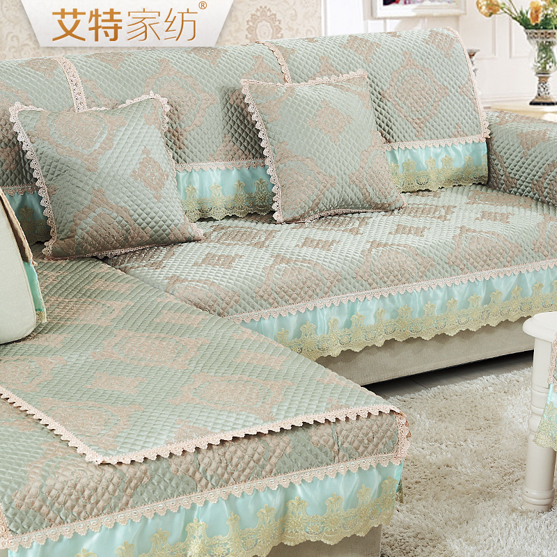 Ait european seasons fabric sofa cushion slip minimalist modern luxury lace cover custom leather sofa sets the whole package