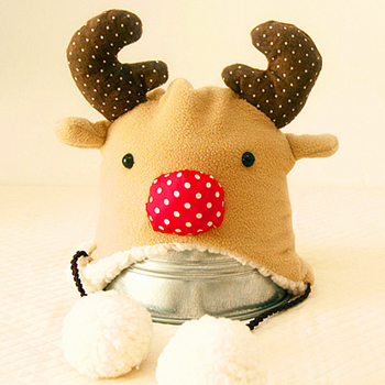 Aka handmade ear cap elk winter new year baby baby hat handmade diy fabric material package