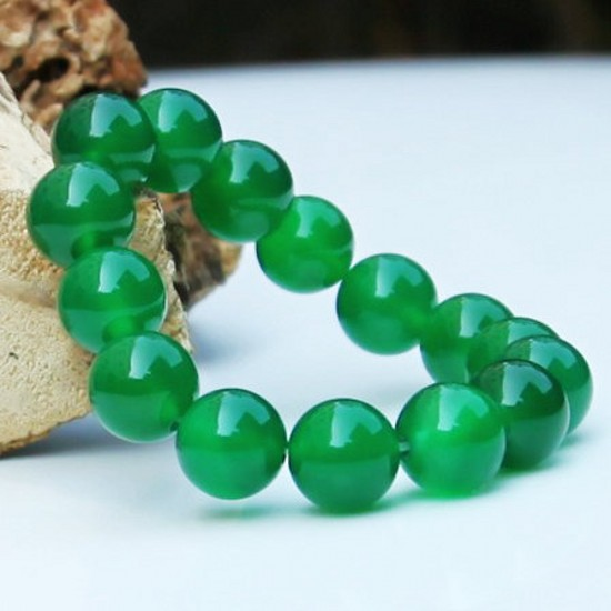 Albatron hin green agate bracelet natural jade jade ice kinds of green chalcedony crystal bracelet couple of men and women bracelets