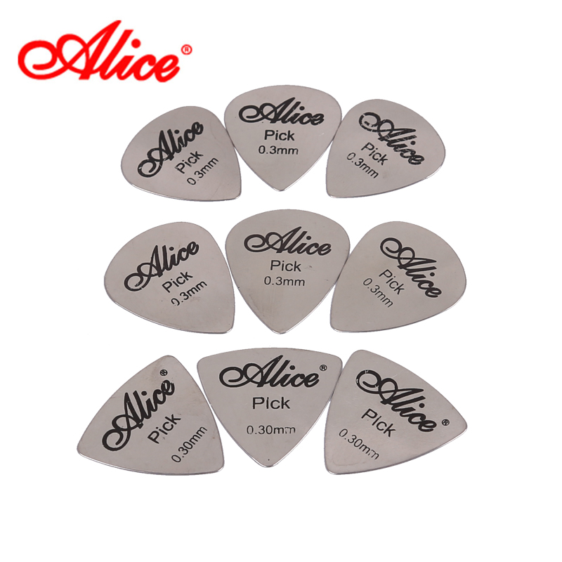 Alice alice guitar plectrum triangular metal heart stainless steel guitar plectrum three optional specials