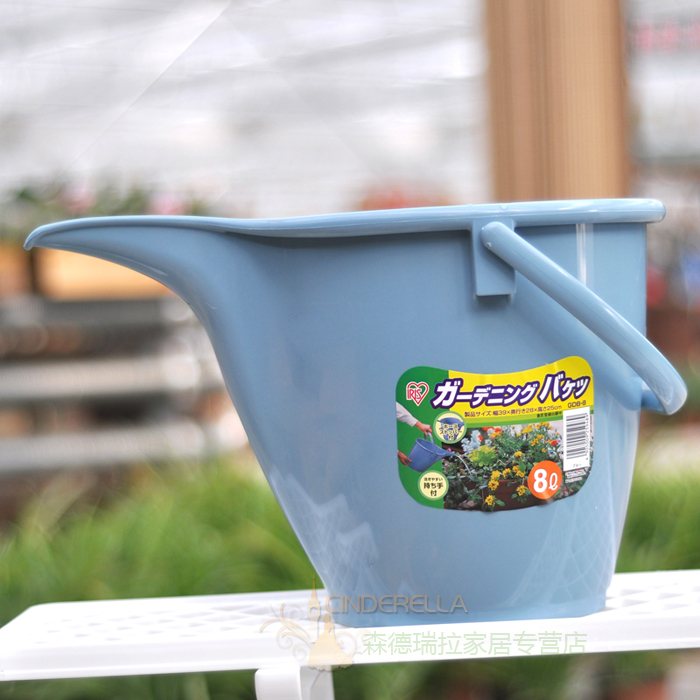 Alice home gardening bucket 8l thickened resin beak pouring kettle watering bucket watering bucket with carry hand