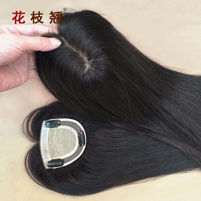 Alice squid real hair replacement top woven hair replacement block head hair piece wig top male and female models shipping delivery needle