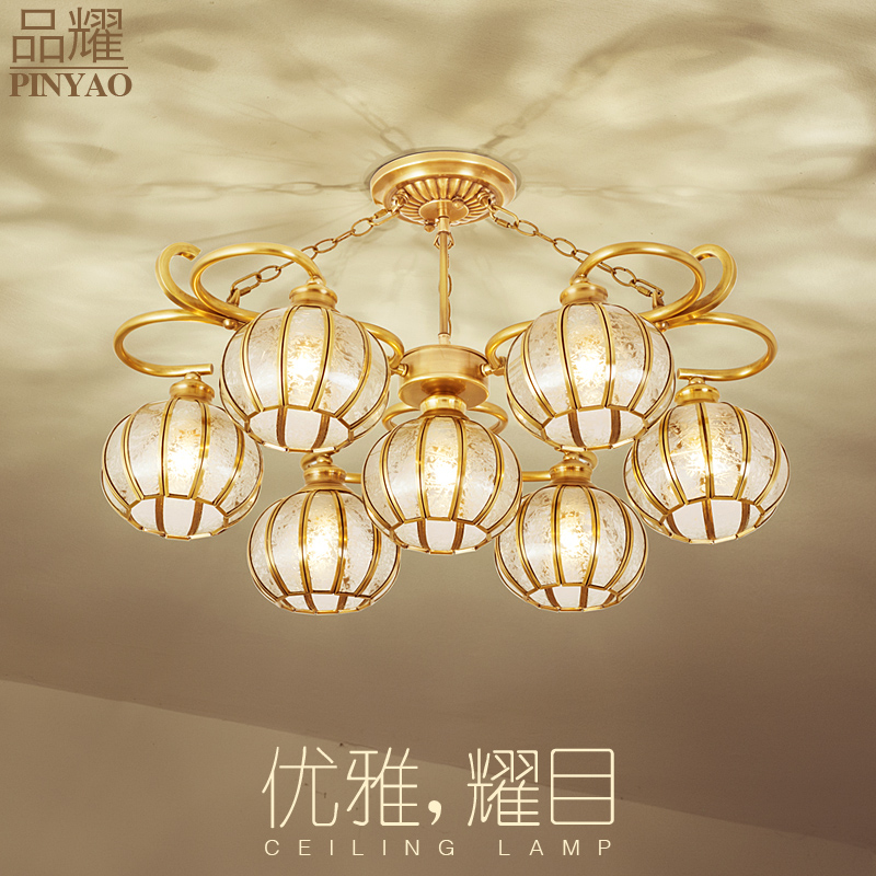 All copper and brass lamps ceiling american american pastoral european lighting lamps living room lamp bedroom lamp american restaurant lights