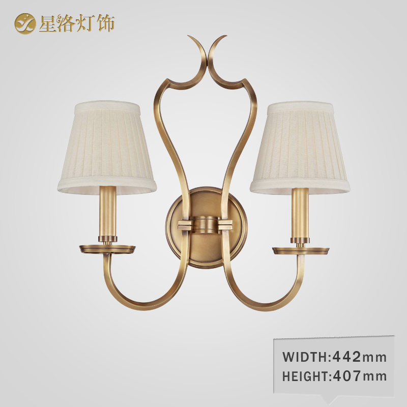 All copper retro bedside wall lamp wall lamp wall lamp wall lamp american country living room den copper fabric wall lamp wall lamp american 5301