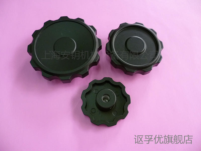 Aluminum alloy aluminum small ripple hand wheel machine handwheel handwheel handwheel 8*63 aperture 10*80 handle