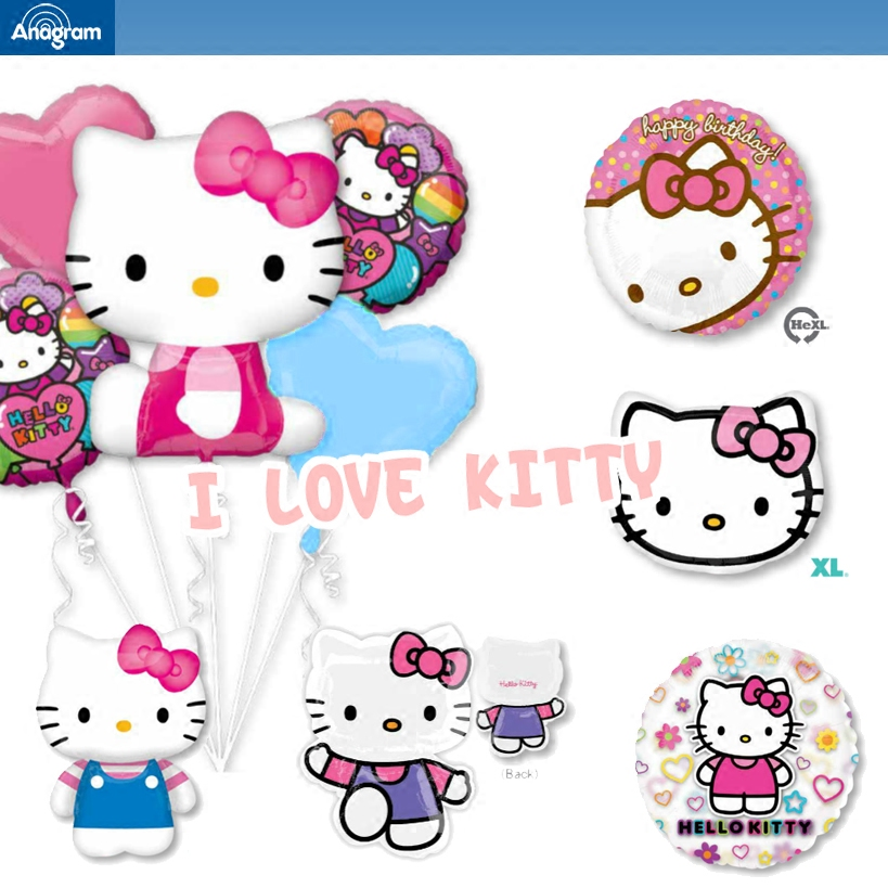 Aluminum balloons balloon package hello kitty hello kitty girls under the age of baby full moon birthday feast arranged