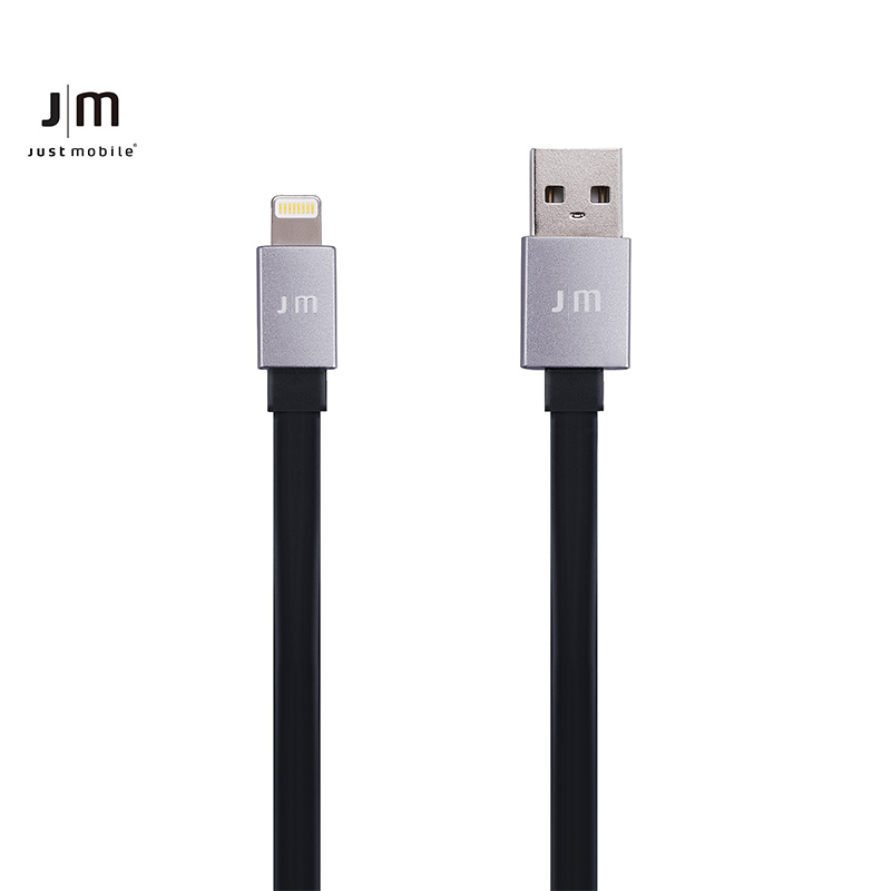 Aluminum flat data cable usb interface cable lightning data cable germany just mobile power line