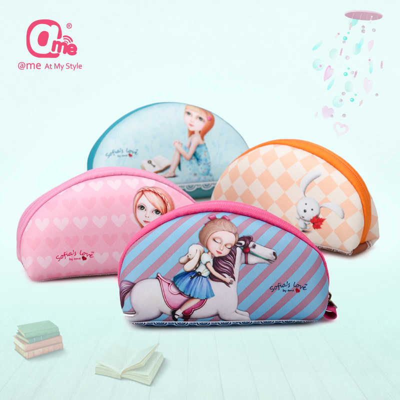 Ame accessories storage box storage bag portable mini cartoon headphone cable data cable pouch digital charger