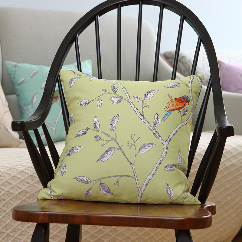 American country pastoral style bird and tree series cushion sofa cushion pillow cover can be customized size