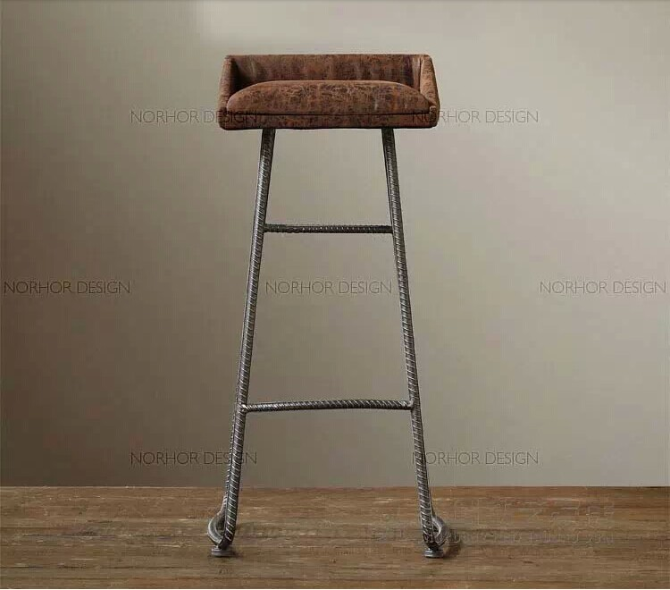 American country pub restaurant retro bar stool high chair starbucks barstool bar stool chair highchair iron industrial wind