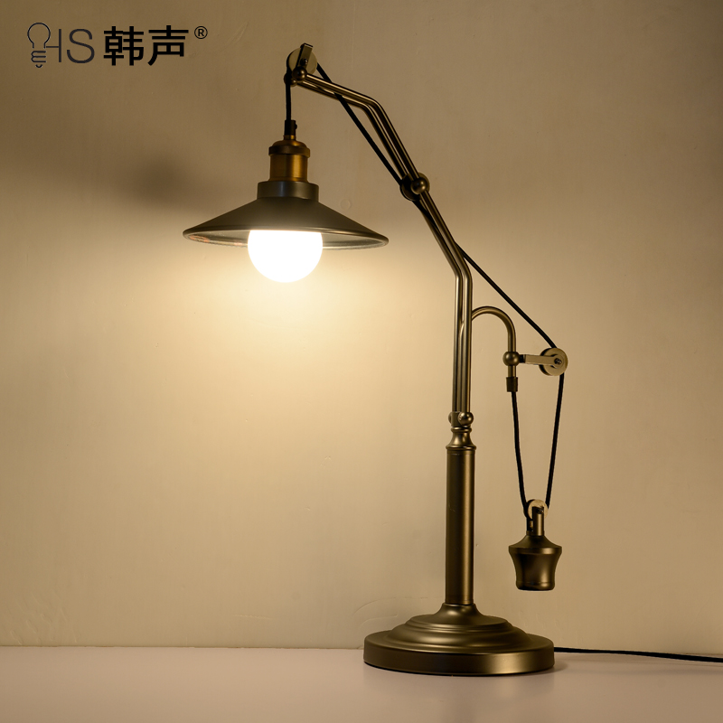 American country retro nostalgia creative office bedroom bedside lamp learning study desk lamp table lamp