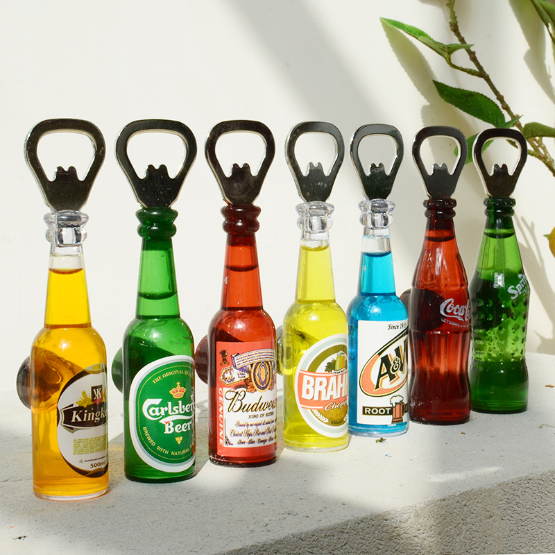 American creative personality opener beer bottle opener fridge magnet crafts ornaments home wine bar decorations ornaments creative gifts