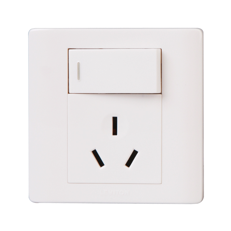 American leviton switch socket boston p series single joint opened three holes 16a air conditioning outlet socket