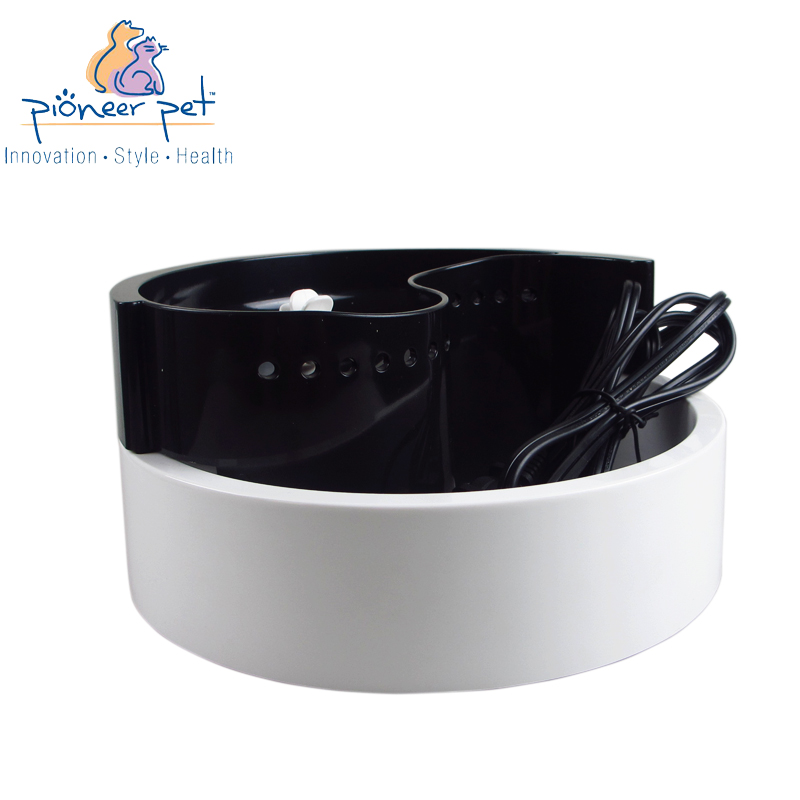 American pioneer pet plastic taiji quan automatic cycle pet dogs and cats drinking fountains filter