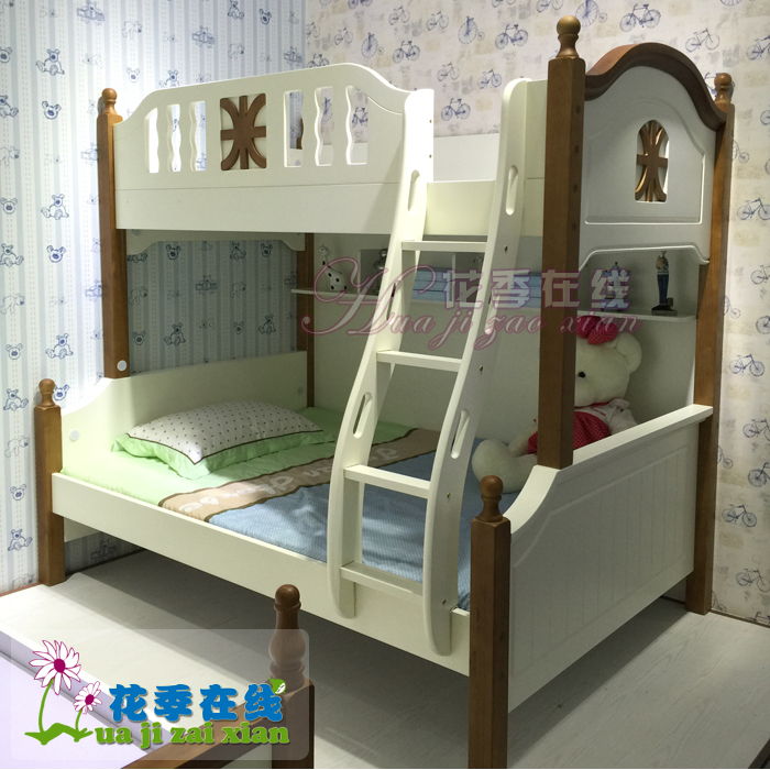 American village mediterranean children's furniture bunk bed children bed bunk bed bunk bed wood bunk bed bunk bed boy