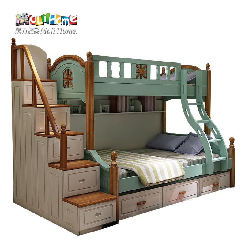 American village mediterranean children's furniture children's bed bunk bed bunk bed wood bunk bed bunk bed boy