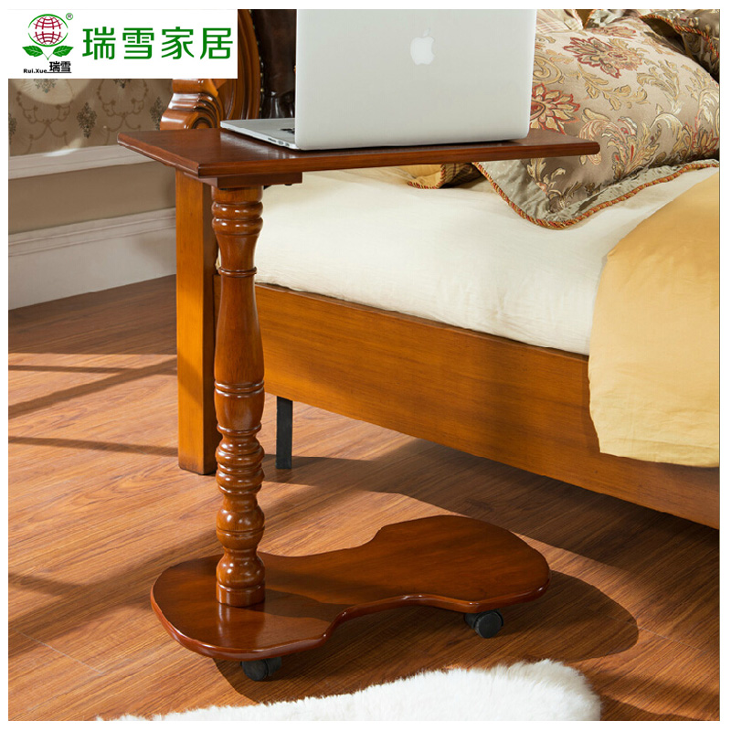 Get Ations American Wood Mobile Computer Desk Bed With A Laptop Simple Mini