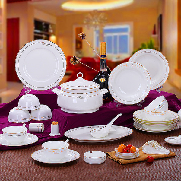 Amico porcelain bowl suits jingdezhen ceramics 56 bone china tableware suit korean dishes dishes suit special offer