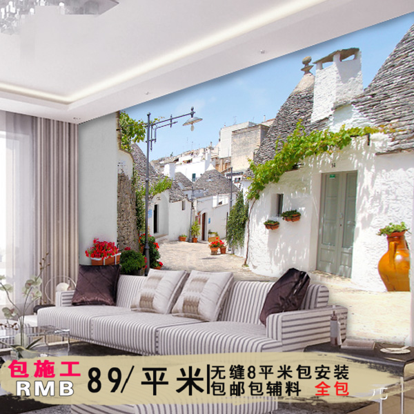 Ancient ellen euclidian personalized 3d stereoscopic large mural cozy bedroom living room tv backdrop wallpaper wallpaper