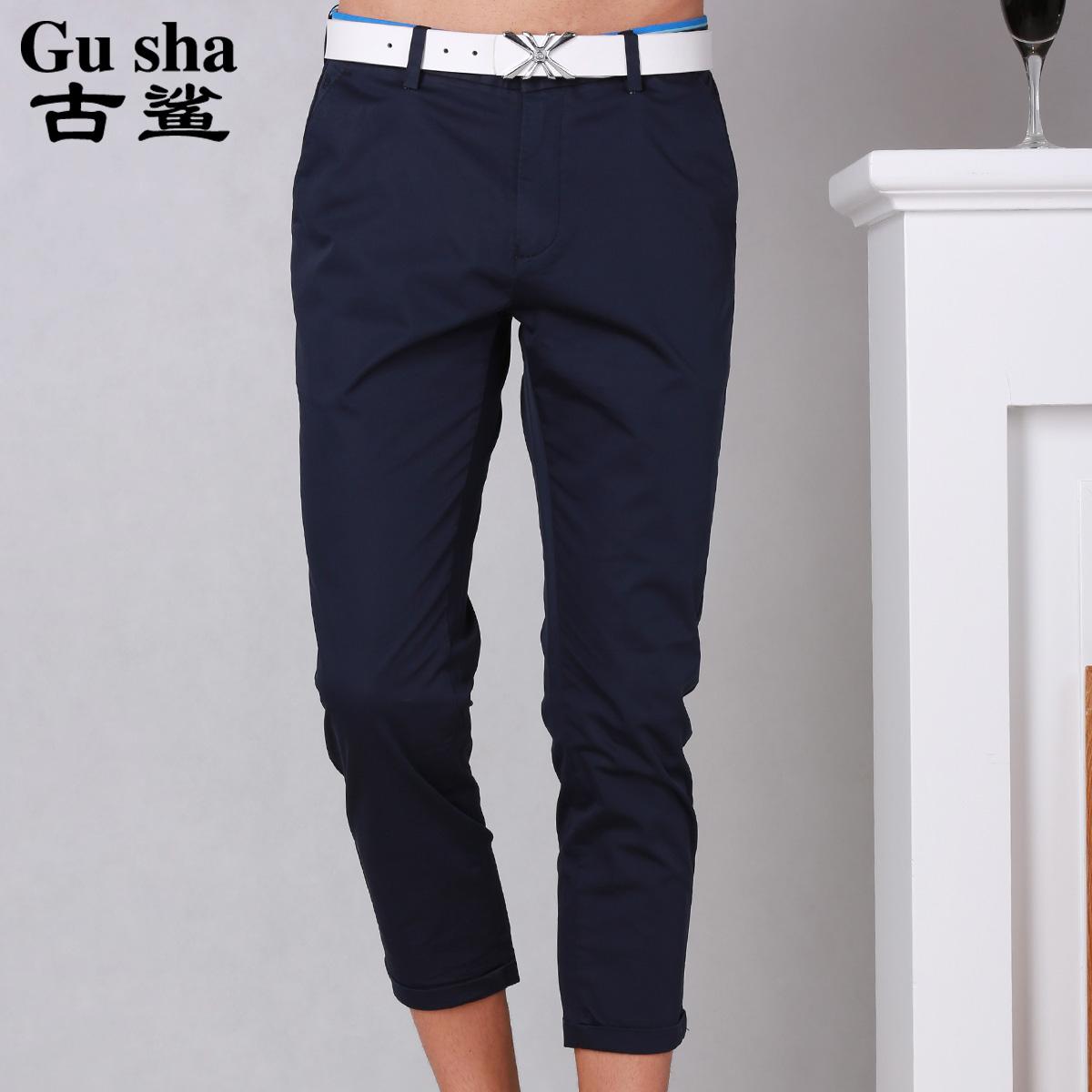 a1beceb103 Get Quotations · Ancient shark ancient shark men s pantyhose summer new  men s jeans slim korean fashion casual pants pants