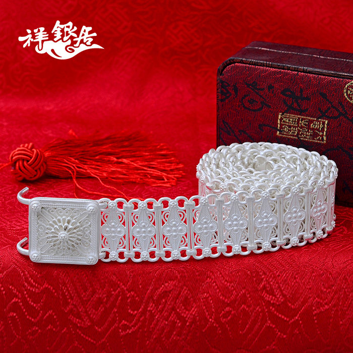 Andrew silver ranking yunnan bai sterling silver belt belt belt handmade unique national style silver health