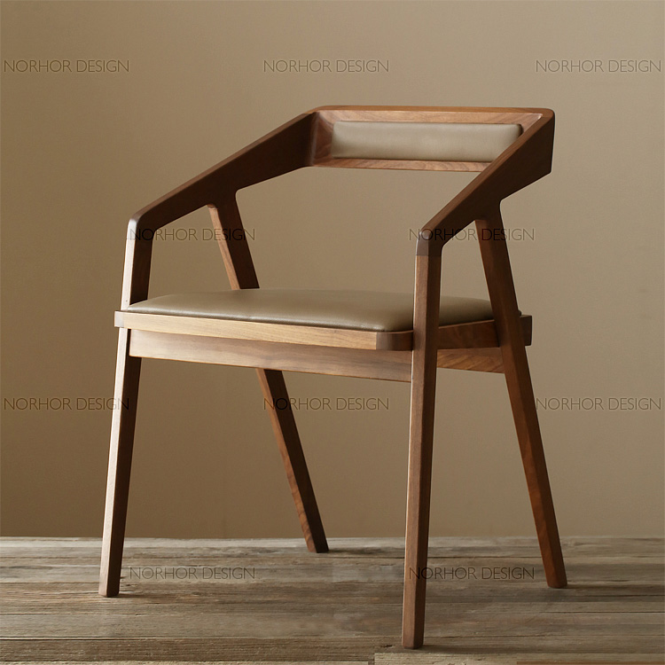 Buy Upscale All Solid Wood Chairs With Armrests Scandinavian Modern