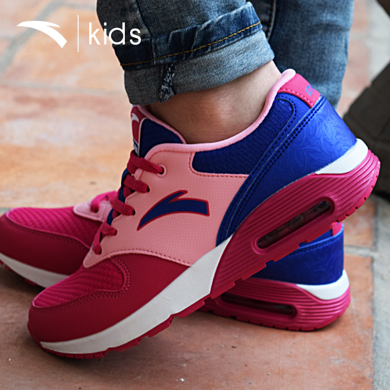 Anta girls sports shoes casual shoes slip big boy 2016 spring and autumn new children's leather cushion running shoes