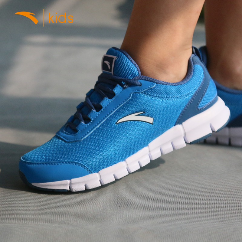 Anta shoes men's shoes children sports shoes male big boy mesh breathable mesh men's shoes soft bottom autumn teenagers running shoes